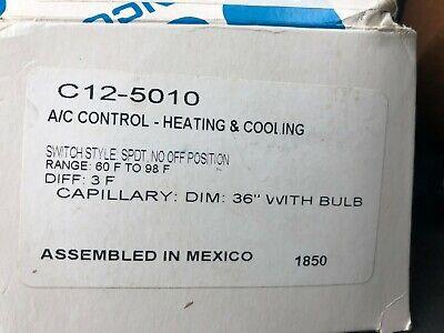 Ranco C12-5010 Line Voltage Mechanical Remote Bulb Thermostat Newopen Box