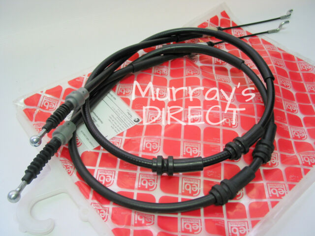 Pair of OE Quality Rear Handbrake Brake Cables for VW T5 Transporter  7H0609701D