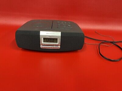 Sony Dream Machine CD/AM/FM Radio Alarm Clock ICF-CD821 CD Player Stereo Tested
