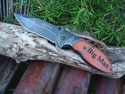 Groomsmen Pocket Knives - Personalized Knife , Best Man, Groomsman Pocket Knives Gift, Spring Assisted 910