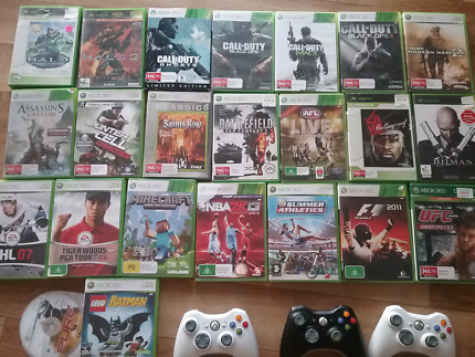 X BOX 360  games(25)  and x3 remotes