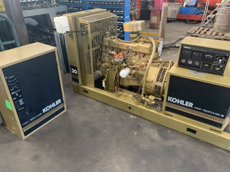 Generator NG Kohler II Fast Response stationary 30 KW Transfer Switch Complete