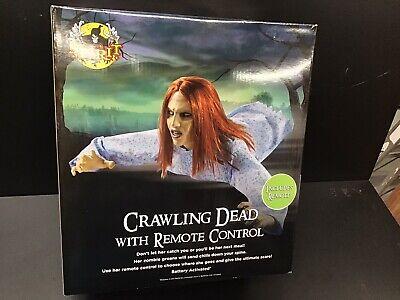 New Spirit Halloween Animated Crawling Dead Quarantine Girl Remote Control Prop