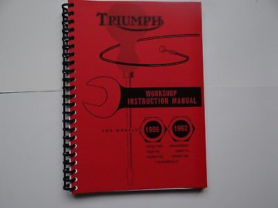 Triumph Pre Unit Workshop Manual 1956-1962