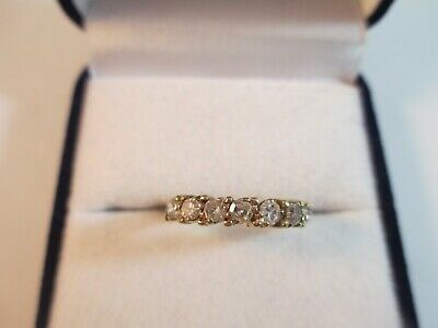 WONDERFUL VINTAGE 9ct YELLOW GOLD 1/2ct DIAMOND RING UK SIZE K  2.2g