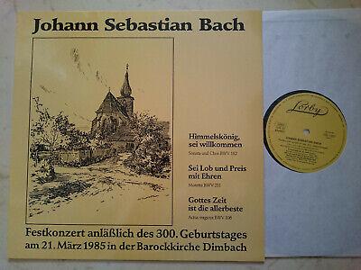 Bach Festkonzert 300.Geburtstag 1985 Barockkirche Dimbach Vinilo LP Privado Mint