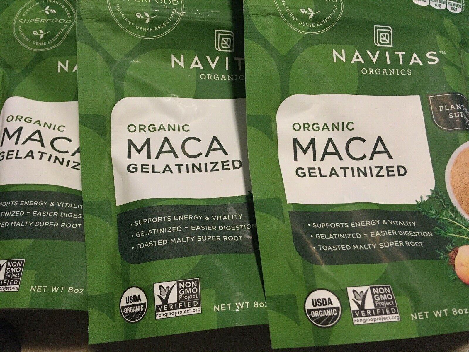 Navitas Naturals Organic Gelatinized Maca Powder, 8 Ounce --