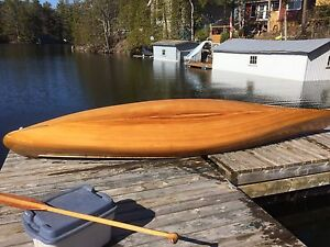 Cedar strip canoe, 16ft