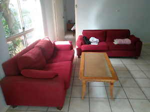 2 couches (1 sofa bed)