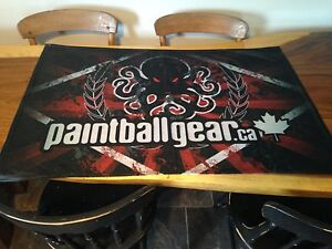 Paintball flags and banners