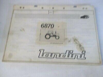 Landini 6870 Tractor Parts Book