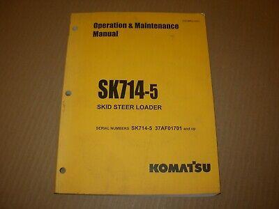 Komatsu Sk714-5 Skid Steer Loader Operation Maintenance Manual 37af01701 - Up