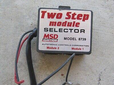 MSD 2 step 8739 Module Selector NHRA drag boat jet dragster RPM