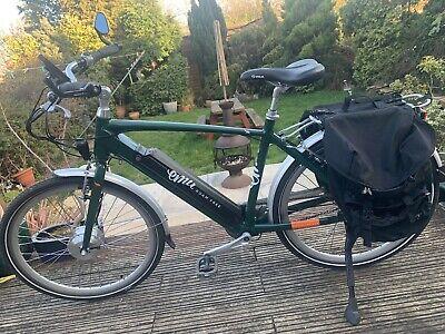 Emu Crossbar Hybrid City Electric Bike - British Racing Green New Spec