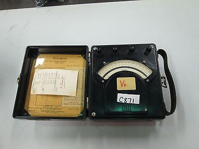 Vintage Westinghouse Portable Dc Voltmeter Px-5 Style 936295 Used