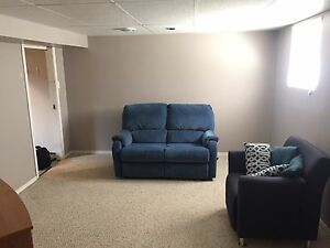 Single person basement suite(partially furnished)