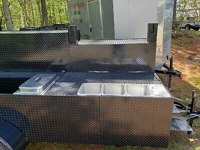 Big Foot Steam Trays Table Bbq Smoker Sink Grill Trailer Food Truck Catering