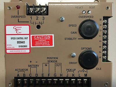 Esd5403 - Engine Speed Control Authentic - Governors America Corp. Gac