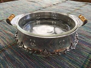 Silver plate serving dish