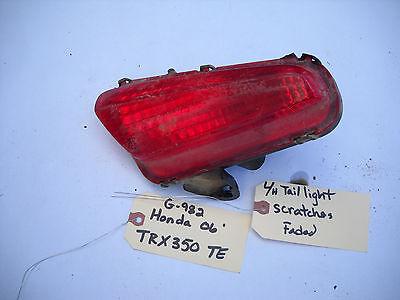 HONDA 2006 TRX350TE L/H TAIL LIGHT G-982