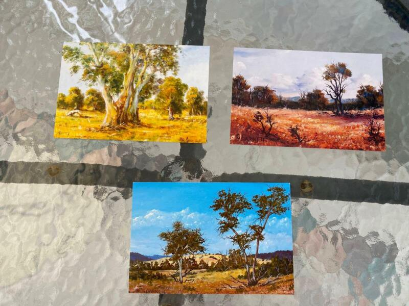 3 Outback Christmas Cards Mouth Foot Artist Flinders Scrub Mudgee Other Antiques Art Collectables Gumtree Australia Brisbane South East Carindale 1236224924