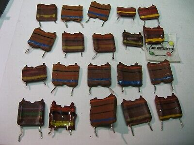 Inductor Coil Assorted Values Types Pcb Mount - Used Pulls Qty 20