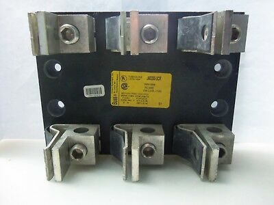 Nice Bussmann J60200-3CR Fuse Block Holder 600V 200A Class -