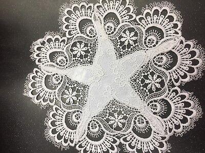 embroidered doily napkin wielkanoc, easter basket decoration, serwetka,