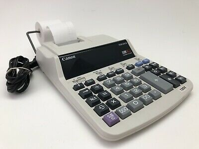 Canon P200-DH III 2 Color 12 Digit Calculator Accounting Adding Machine WORKING