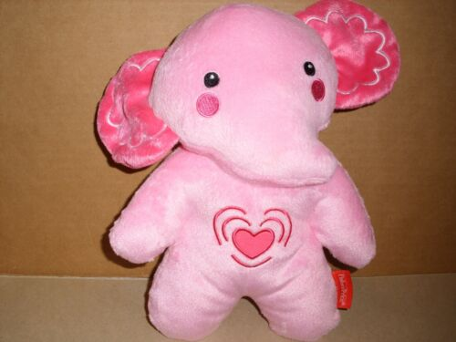 2013 Fisher Price Pink Elephant Plush Calming Vibrations Soother Musical 10""