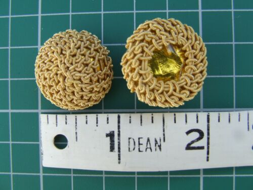 British Army Gold netted Caps Buttons for Patrol tunics Victorian Officers