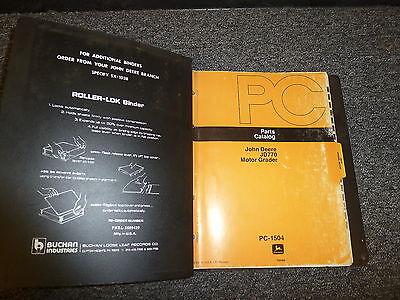 John Deere 770 Motor Grader Parts Catalog Manual Book Pc1504