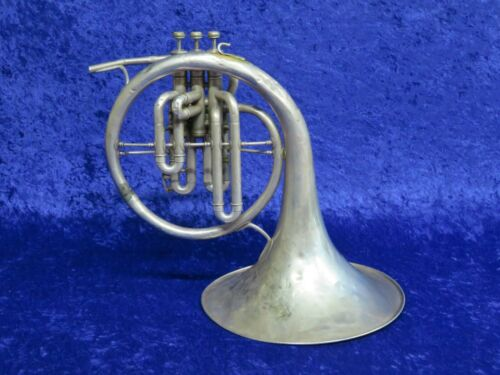 Vintage C.G. Conn Silver Eb Mellophone Ser#354163 Naked Lady Cleavage Engraving