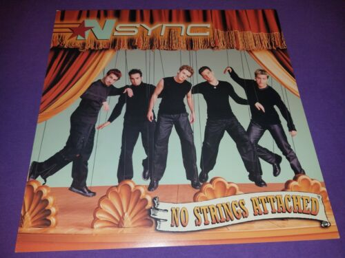 NSYNC - NO STRINGS ATTACHED - DOUBLE SIDED POSTER / FLAT / 12 X 12 RARE !