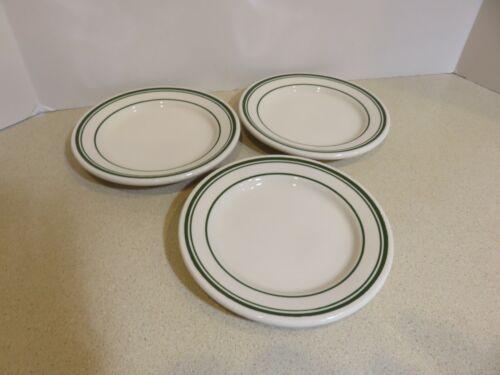 Vintage Buffalo China Restaurant Ware Dessert Plates Set Of 3