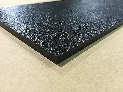 Abs Black Plastic 18 X 12 X 12 .125 Textured 1 Side Stereo Sheet