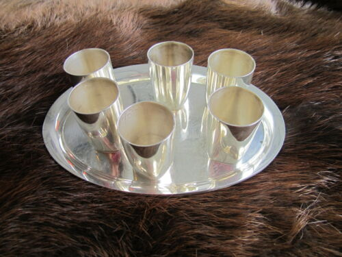 Sterling Silver Tray and Cups Shot Set REDUCED