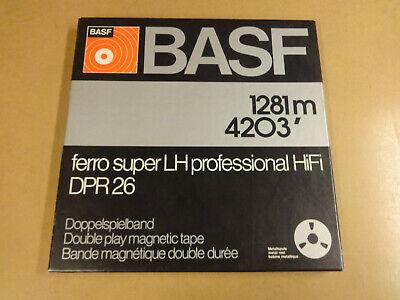 """10"""" (26,50 CM) METAL REEL TAPE BASF IN ORIGINAL BOX"""