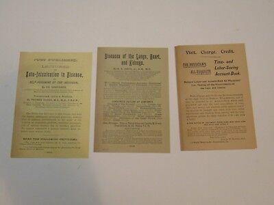 Medical Books AD SET consumption etc FA David Publisher 1890's