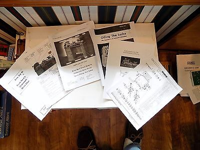 South Bend 9 A B C Lathe 77 Page Instructions Oiling Parts Quick Change