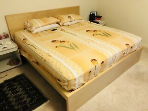 Ikea King Bed with Mattress