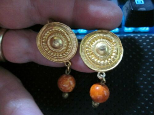 """Fall Color Dangle earrings, goldtone. about 1.5"""" Length~ Always get compliments!"""