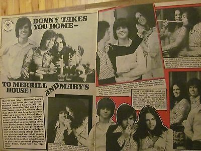 Merrill Osmond, Two Page Vintage Clipping