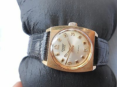 - RARE VTG COLLECTIBLE GOLD PLATED CAMY LADIES MECHANICAL HAND WINDING WRISTWATCH