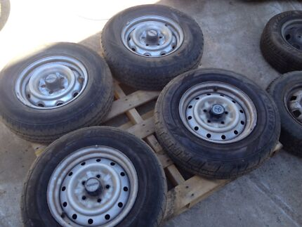 Toyota Hiace wheels and light truck tyres $50 each