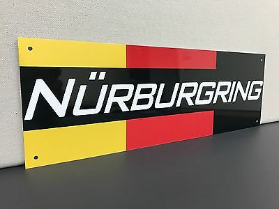 Nurburgring racing garage sign BMW Porsche mercedes baked