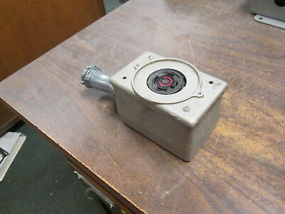 Hubbell Receptacle W Outlet Box 30a 480v 3ph 4w Used