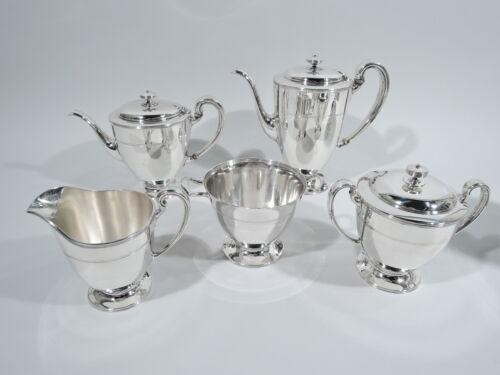 Tiffany Coffee Tea Set - 17089A - Antique Modern - American Sterling Silver