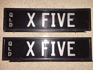 BMW X5 PERSONALISED PLATES Eight Mile Plains Brisbane South West Preview