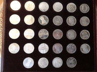 ALLE 28 ORIGINAL 5 DM-Gedenkmünzen GERMAN.MUSEUM 1952 - ARCHÄOLOG.INSTITUT 1978